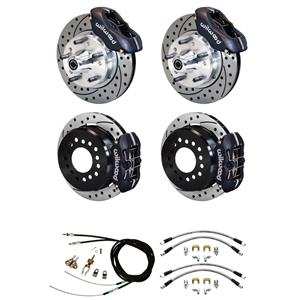 "73-77 Chevelle Wilwood 4 Wheel Disc Brakes Kit 11"" Drilled Black Caliper"