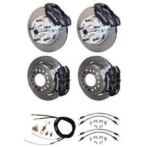 """64-72 Chevelle Wilwood 4 Wheel Disc Brake Kit 11"""" Rotors Black Caliper"""