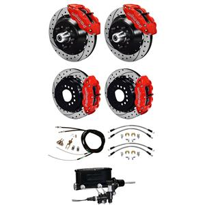 Wilwood 67-69 Camaro 4 Wheel Man Disc Big Brake Kit Drilled Rotor Red Caliper
