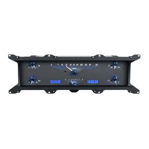 Dakota Digital 67 - 72 Ford Pickup Truck VHX Analog Dash Gauge System Carbon Fiber Blue VHX-67F-PU-C