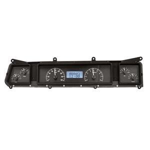 Dakota Digital 66 Chevy Impala/Caprice Analog Gauges Black White VHX-66C-IMP-K-W