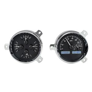 Dakota Digital 1951-52 Chevy Car Analog Gauges Black Alloy White VHX-51C-K-W