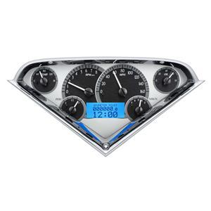 Dakota Digital 55-59 Chevy Truck VHX System, Silver Face - Blue Display