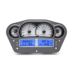 Race Inspired VHX System, Satin Alloy Style Face, Blue Display