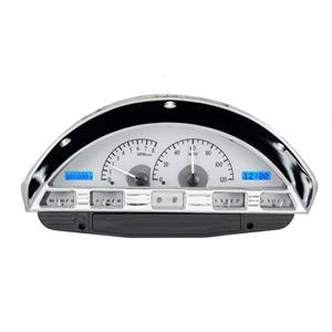1956 Ford F100 VHX System, Satin Alloy Style Face, Blue Display