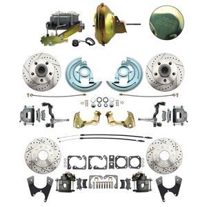 67 F-body 4 Wheel Power Disc Brake Kit 11D Drilled Slotted Raw Caliper No Drop
