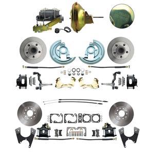 6772 Abody 4 Wheel Power Disc Brake Kit 11D Standard Rotor Black Caliper No Drop