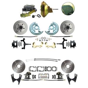 "67 F-body 4 Wheel Power Disc Brake Kit 11D Standard Rotor Raw Caliper 2"" Drop"