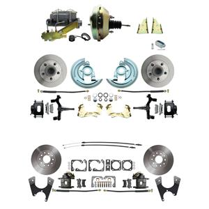 "67 F-body 4 Wheel Power Disc Brake Kit 9"" Standard Rotor Raw Caliper 2"" Drop"