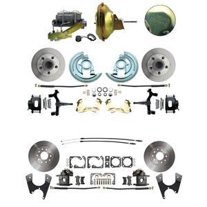 "67-72 A-body 4 Wheel Power Disc Brake Kit 11D Standard Rotor Raw Caliper 2"" Drop"