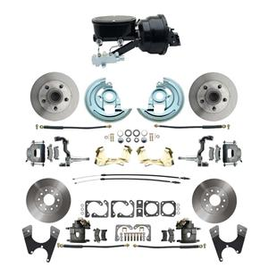 "F/X Body 4 Wheel Power Disc Brake Kit 8""B Standard Rotor Raw Caliper No Drop"