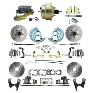"67 F-body 4 Wheel Power Disc Brake Kit 8"" Standard Rotor Raw Caliper No Drop"