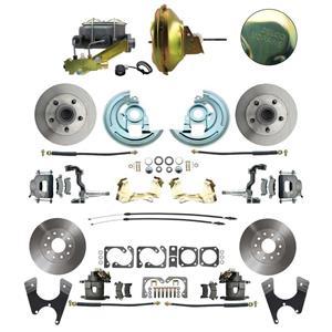 F/X Body 4 Wheel Power Disc Brake Kit 11D Standard Rotor Raw Caliper No Drop