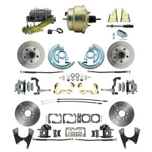 "F/X Body 4 Wheel Power Disc Brake Kit 8"" Standard Rotor Raw Caliper No Drop"