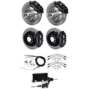 "Wilwood 73-77 El Camino 4 Wheel Manual Disc Brake Kit 13"" Plain Rotor Black"