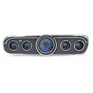 1965-66 Ford Mustang VHX System, Carbon-Fiber - Blue Display