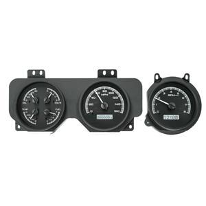 Dakota Digital 70-72 Pontiac GTO Analog Gauges Black Alloy White VHX-70P-GTO-K-W
