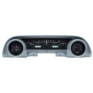 Dakota Digital 63-64 Ford Galaxie Analog Gauges Black w/ White VHX-63F-GAL-K-W