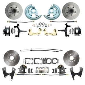 "F/X Body 4 Wheel Disc Brake Wheel Kit Standard Rotor Raw Caliper 2"" Drop"