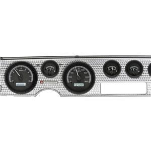 Dakota Digital 70-81 Firebird Analog Gauges Black Alloy White VHX-70P-FIR-K-W