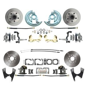 64-72 A-body 4 Wheel Disc Brake Wheel Kit Standard Rotor Raw Caliper No Drop