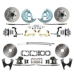 67 F-Body 4 Wheel Disc Brake Wheel Kit Standard Rotor Raw Caliper No Drop