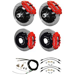 "Wilwood Mopar B / E Body 4 Wheel Disc Big Brake Kit 13"" Plain Rotor Red"
