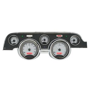 1967-68 Ford Mustang VHX System, Silver Face - Red Display