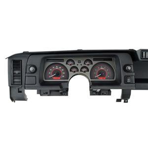 Dakota Digital 90-92 Chevy Camaro Analog Gauges Carbon Fiber Red VHX-90C-CAM-C-R