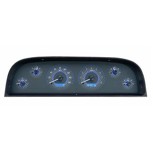 1960-63 Chevy Truck VHX System, Carbon Fiber Face - Blue Display