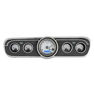 1965-66 Ford Mustang VHX System, Silver Face - Blue Display