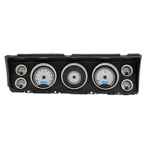 Dakota Digital 67 Chevy Impala/CapriceAnalog Gauges Silver Blue VHX-67C-IMP-S-B