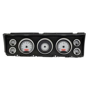 Dakota Digital 67 Chevy Impala/CapriceAnalog Gauges Silver Red VHX-67C-IMP-S-R