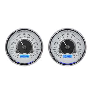 Dual Round Universal VHX System, Silver Face - Blue Display