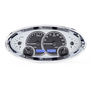 Universal Oval VHX System, Satin Alloy Style Face, Blue Display
