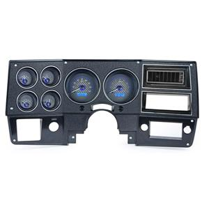 Dakota Digital 87-91 Blazer Analog Gauges Carbon Fiber Blue VHX-73C-PU-C-B