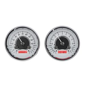 Dual Round Universal VHX System, Silver Face - Red Display
