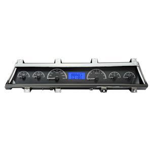 Dakota Digital 66-67 Chevy Chevelle VHX Analog Gauges Black Blue w/ Carrier