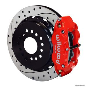 """Wilwood Rear Disc Brake Kit Ford 9"""" Big New Style w/ 2.50"""" Offset Drill 14"""" Red"""