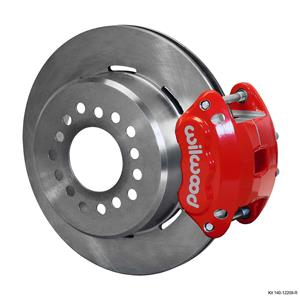 """Wilwood Rear Disc Brake Kit Ford 9"""" Big New Style w/ 2.5 Offset Plain Rotor Red"""