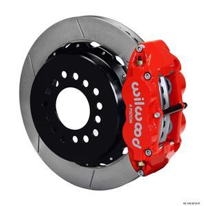 """Wilwood Ford Rear Disc Big Brake Kit 9"""" Big Bearing w/ 2.5"""" Offset Plain Red"""