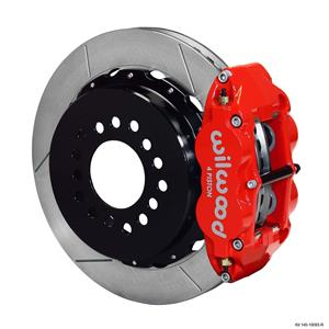 "Wilwood Rear Disc Big Brake Kit C10 Rear End w/ 2.42"" Offset Plain Red Caliper"