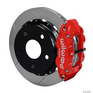 "Wilwood Rear Disc Big Brake Kit 12.88"" Ford Bronco w/ 2.36"" Offset Plain Red"