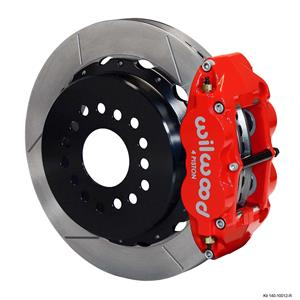 "Wilwood Rear Disc Brake Kit Ford 9"" Big New Style w/ 2.50"" Offset Plain 14"" Red"