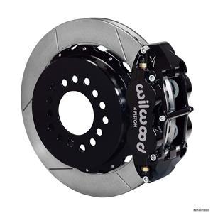 "Wilwood Rear Disc Big Brake Kit C10 Rear End w/ 2.42"" Offset Plain Black Caliper"