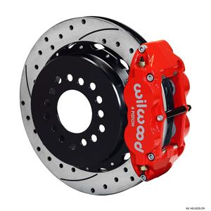 "Wilwood Rear Disc Big Brake Kit Ford Small Bearing w/ 2.50"" Offset Drilled Red"