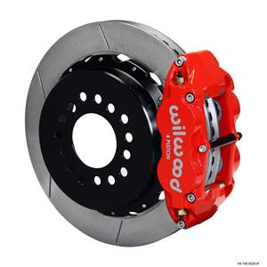 "Wilwood Rear Disc Big Brake Kit Ford Small Bearing w/ 2.50"" Offset Plain Red"