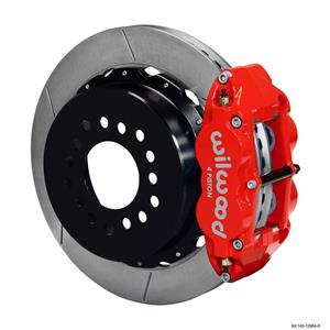 "Wilwood Chevy 10/12 Bolt 2.75"" Offset Rear Disc Brake Kit 12.88"" Rotor Plain Red"