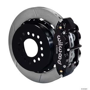 """Wilwood Rear Disc Big Brake Kit 05-Up Mustang w/ 2.66"""" Offset Plain Rotor Black"""