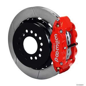 "Wilwood Rear Disc Big Brake Kit Ford 8.8 w/ 2.50"" Offset Plain Rotor Red Caliper"